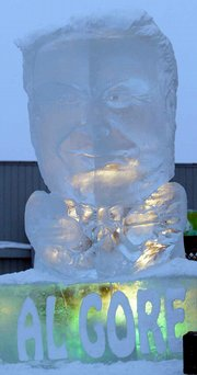 Al Gore Ice Sculpture